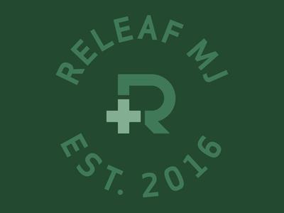 Releaf MJ monogram iconography icon r round badge typeface typography graphic design graphic logo design logos logo