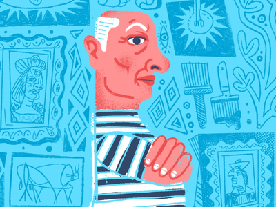 Picasso (Snippet) colorful cartoon picasso portrait face character art character design character graphic designer design artwork artist art illustrate illustration