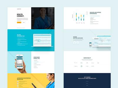 health startup website