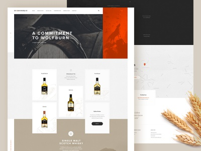 whisky homepage layout texture whisky home orange www landing website