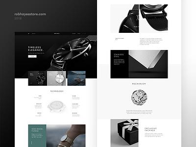 watch store minimal elegant black www website page product ecommerce shop watch