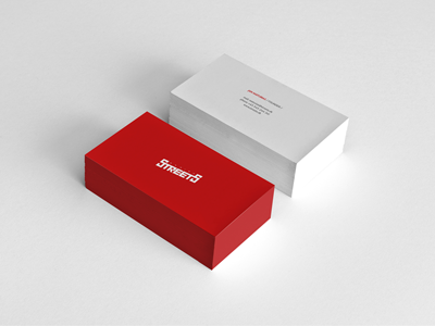 Streets streets red business cards minimal tits