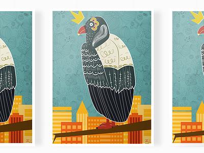 King vulture poster bird kingvulture illustration