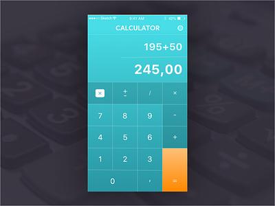 Daily UI challenge #004 — Calculator calculator challenge dailyui