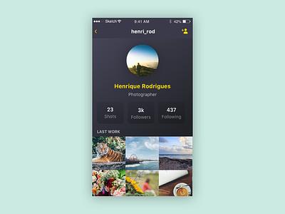 Daily UI challenge #006 — User Profile profile userprofile challenge dailyui