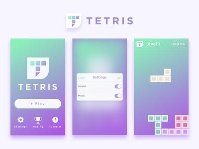 Daily UI challenge #007 — Settings tetris settings challenge dailyui