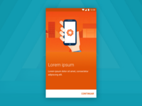 Material design: illustration style