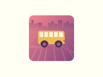 App Icon map travel bus appicon