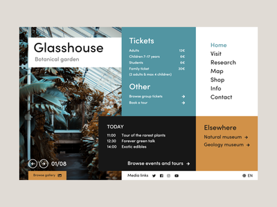 Glasshouse website unsplash flat minimal web app ux ui