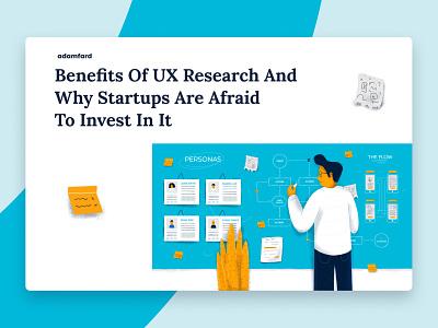Benefits Of UX Research ui design ux design ux studio illustration ux research product design ui ux