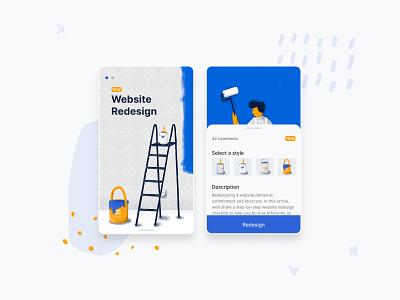 Redesign Companion App interaction design icon illustraion mobile app design app design webdesign websites redesign product design ui ux
