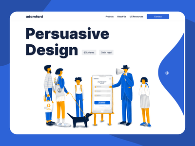 Persuasive Design:  How to Nudge Users in the Right Direction illustration ui website product design ux