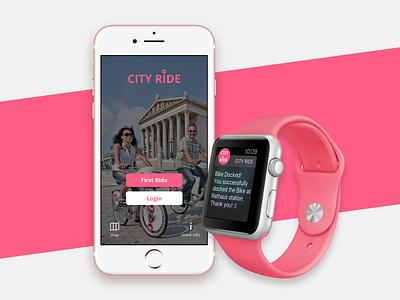 City Bike App maps bike ride ride app geolocalisation watch app watch os product design ui ux