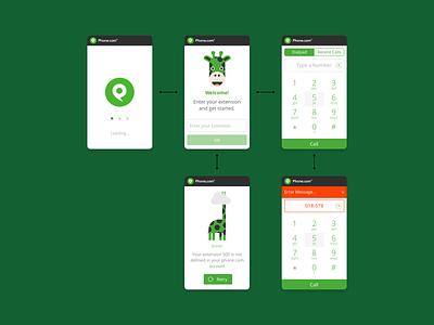 Salesforce Widget ui desgin phone app ux modular design calling app widget