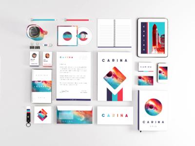 Carina nebulas album cover art envelope business card stationery letterhead logo branding identity space brand