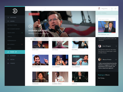 CC web app psd ui commenting video icons navigation social gallery