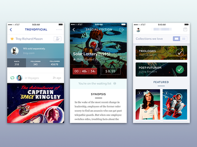 Collections ui apple retro social minimal vintage icons discovery ios 8 comics store science fiction