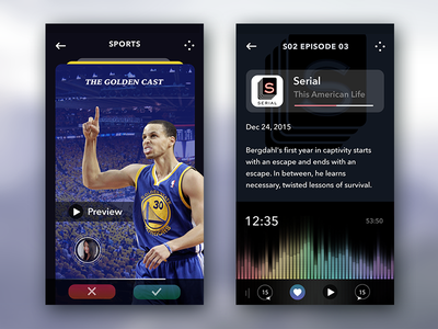 podcast app concept psd iphone6 ui social music mockup icons podcast iphone6plus cards audio