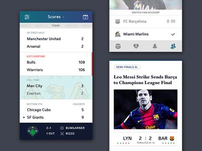 Sport Scores soccer invite apple ios ui iphone 6 plus community social profile icons sports