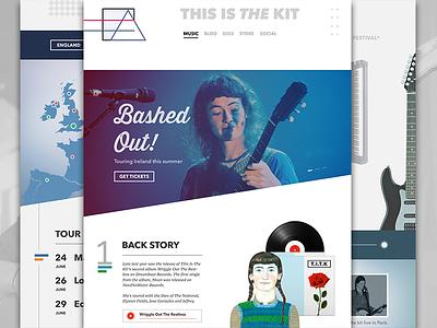 This is the kit logo. music web mac ux fonts social minimalist icons vinyl responsive ui