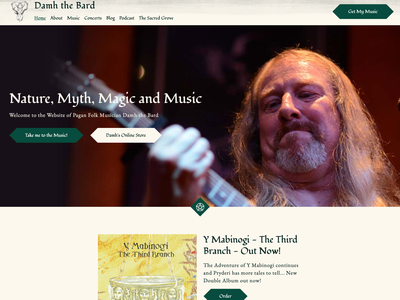 Damh the Bard webdesign website musician music artist