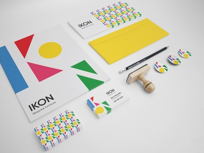 Ikon Stationery Mockup branding logo branding and identity branding concept flat design