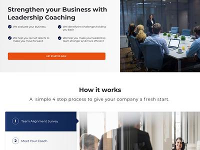 Business Services landing page concept landing page design