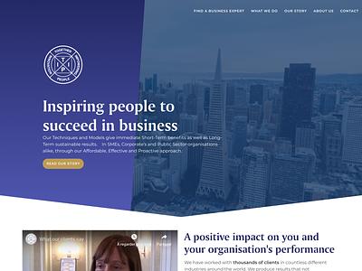 Tipi Circle - Business Coaching Homepage landing page design landing  page b2b business coaching