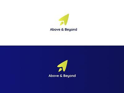 Logo for Above & Beyond Coaching training b2b business coaching design logo branding design branding concept branding and identity branding