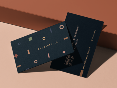 BNCO - Business Cards branding luxury shapes premium cards design geometric minimal business cards
