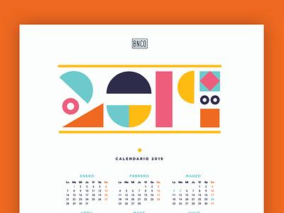 Freebie | 2019 Calendar freebie geometry geometric paper stationery 2019 calendar 2019 calendar