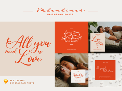 ValentinesInstagram Posts valentines day template february love posts grid socialmediamarketing socialmedia instagram valentines