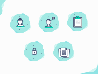 Empty states illustration set attendant contacts chat papers not allowed empty state empty page empty vector uidesign blank state icons webdesign illustraion empty states