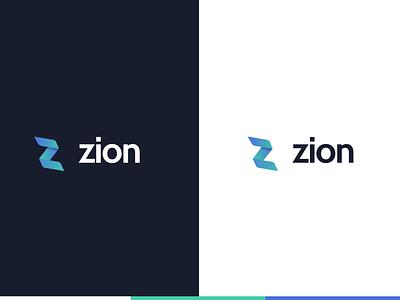 ZION :: Digital Agency blue purple logo blue logo green logo purple green logotype z letter letter design uidesign branding concept typography branding design logo webdesign logodesign ui branding