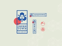 Japantown Branding sego lily utah branding and identity neighborhood salt lake city japanese culture japanese japan logo branding