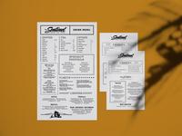 The Sentinel Coffee Shop Bar Menu typography type design bar branding cafe cafe branding restaurant diner menu design menu card menu coffeeshop coffee bar