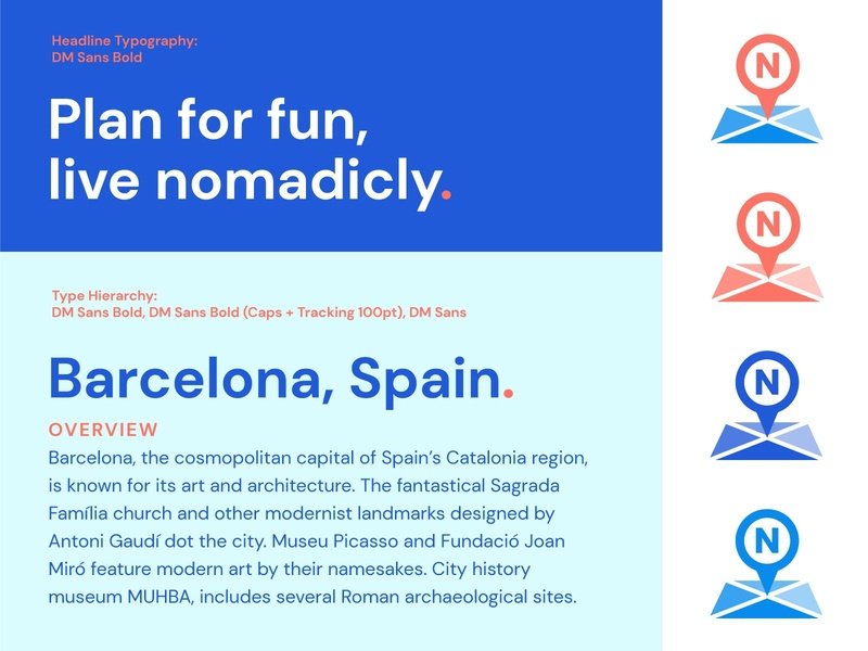 Nomadicly Typography app design app ui typography