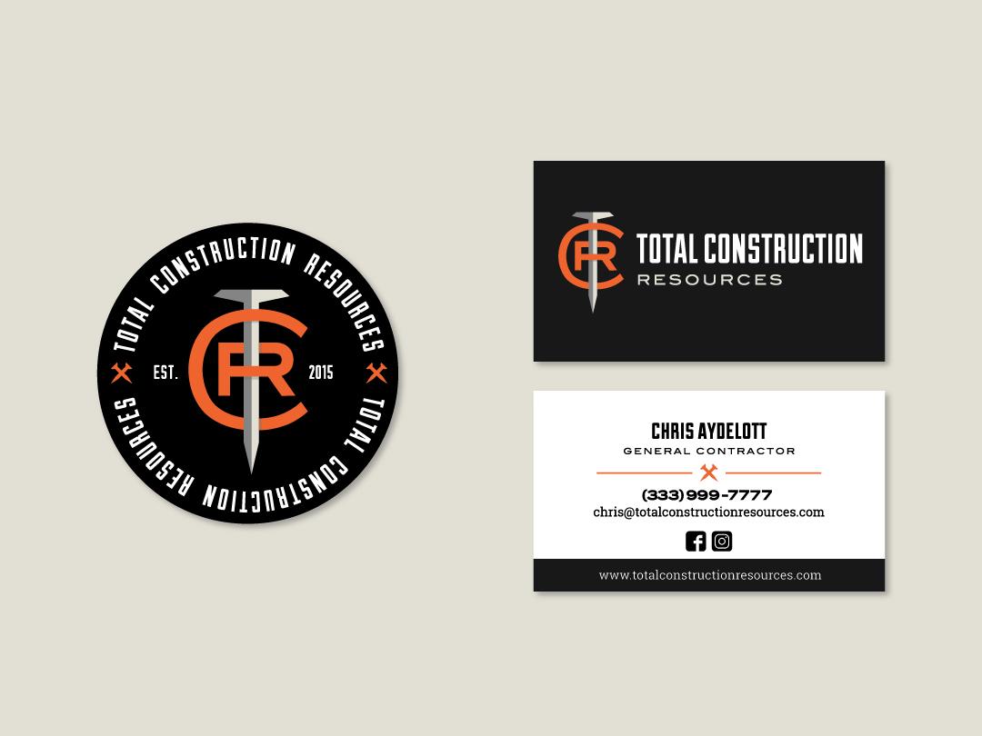 Contractor Branding business card design stationary design contractor logo construction construction logo