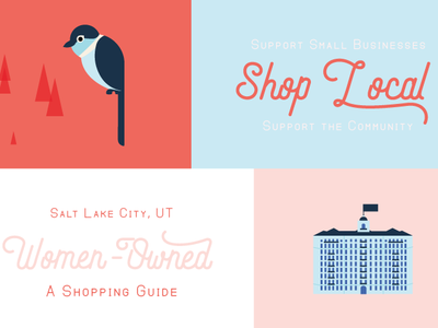 Salt Lake City Illustrated Map city guide map illustration salt lake city shop local building building icon hotel illustration bird illustration