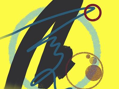 Electric lemonade design abstract art procreate