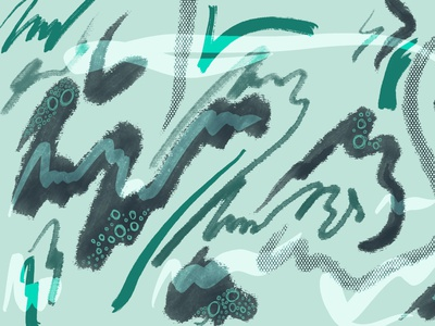Water vibes abstract art procreate design