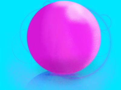 Bubble Gum Planet procreate sphere shapes shadow geometric