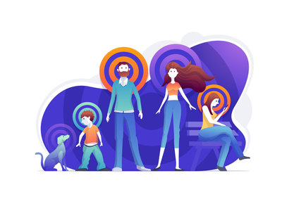 Target audience illustration vector concept marketing people audience target