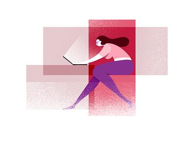 Girl. illustration girl work