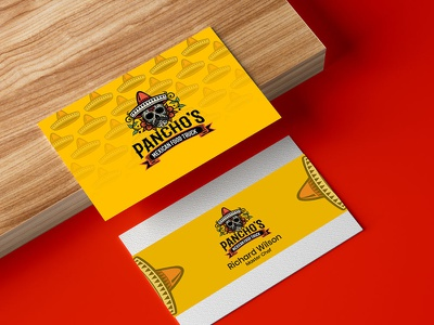 Pancho's Business Card brand ui vector illustration logo design business logo logodesign logo branding
