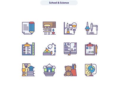 School & Science icon sets. icons set icon icon artwork icons icon app icon a day