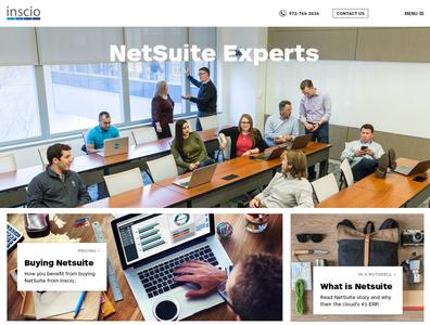 Inscio website design
