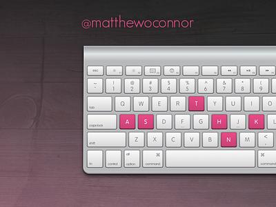 Thank You. dribbble thanks gradient keyboard