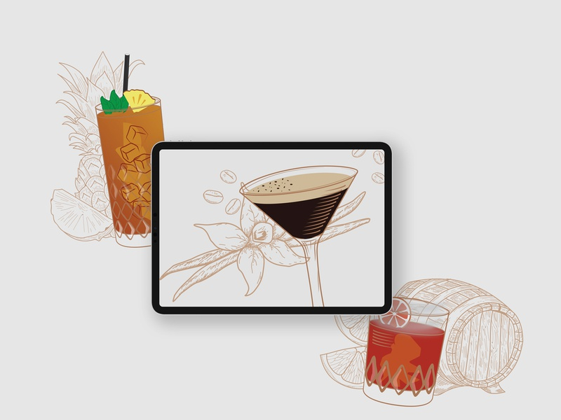 Cocktail Menu Illustrations