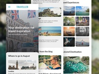 Traveller Blog Mobile Landing Page